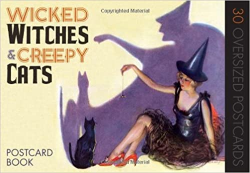 _OFFLINE_ Wicked Witches And Creepy Cats: A Halloween Postcard Book. Samples testbed South Compara stamping English Complete Colegio 51kfWQL0vqL._SY344_BO1,204,203,200_