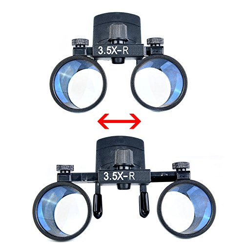 Zgood Dental Binocular Loupes Surgical Glasses Magnifier Clip on Style DY-110 3.5X-R by ZGood (Image #5)