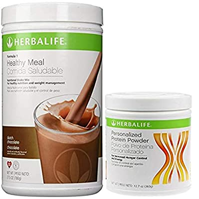 Herbalife Formula 1 Shake Mix Dutch Chocolate 500 Grams and Formula 2 Personalized Protein Powder (PPP) - 200 Grams Unflavored