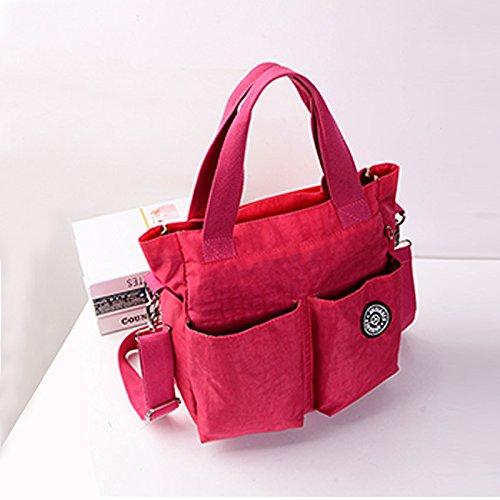 Rouge Rose mode bandouliere en de SODIAL sac arrivee messager de nylon decontractee impermeable Nouvelle violet OAqq4pWc6