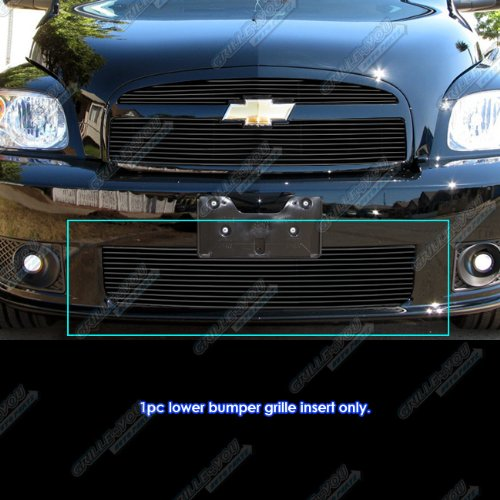 (APS Compatible with 2006-2010 Chevy HHR SS Bumper Black Billet Grille Grill Insert S18-H24966C )