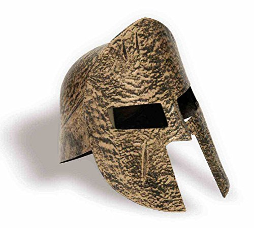 Trojan Warrior Costume Child (Spartan Knight Helmet Gold Adult Costume Accessory 300 Warrior Trojan Soldier)