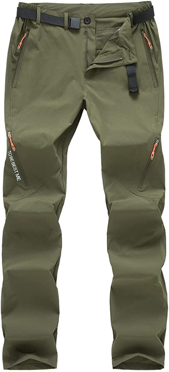 Postropaky Mens Hiking Quick Dry Lightweight Stretch Fishing Pants Outdoor Travel Climbing Trousers