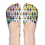 Tolerance Gay Gay Couple With Heart Women's Non Slip No-Show Casual Liner Low Cut Socks