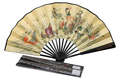 (WTCZ Chinese Traditional Painting Fan with Long History& Coloured Drawing)