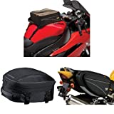 Nelson-Rigg CL-904 Black Standard Tank/Tail Bag,  CL-1060-S Black Sport Tail/Seat Pack,  and  CL-950 Black Deluxe Sport Touring Saddle Bag Bundle