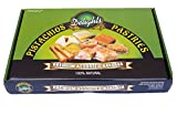 Assorted Baklava Dessert Pastries, 2 LB. (30 Piece) Variety Box - All Natural Premium Quality Sweets - By Pistachios Delights