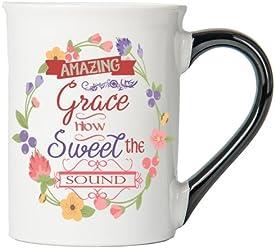 Amazing Grace How Sweet The Sound Mug , Inspirational Coffee Cup, Inspirational Mug, Ceramic Mug, Custom Inspirational Gifts By Tumbleweed
