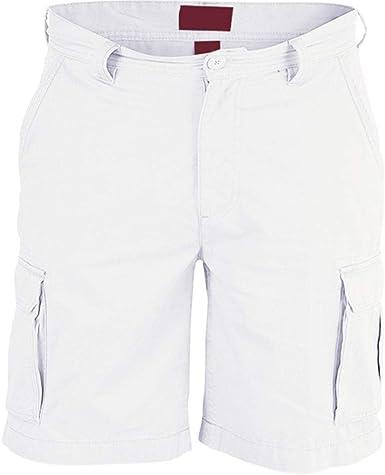 52_DNM - Pantalones cortos de combate para hombre, varios bolsillos, algodón, longitud hasta la rodilla, pantalones cortos: Amazon.es: Ropa y accesorios