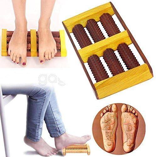 Massaggiatore in legno Piedi a rulli legno massaggio riflessologia relax sollievo SPA Cura