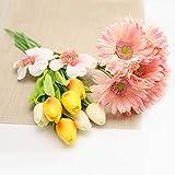 28 Pcs Multicolor Tulips Artificial Flowers Faux