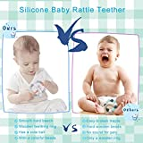 Baby Rattle Teether Toy Organic Silicone Beads