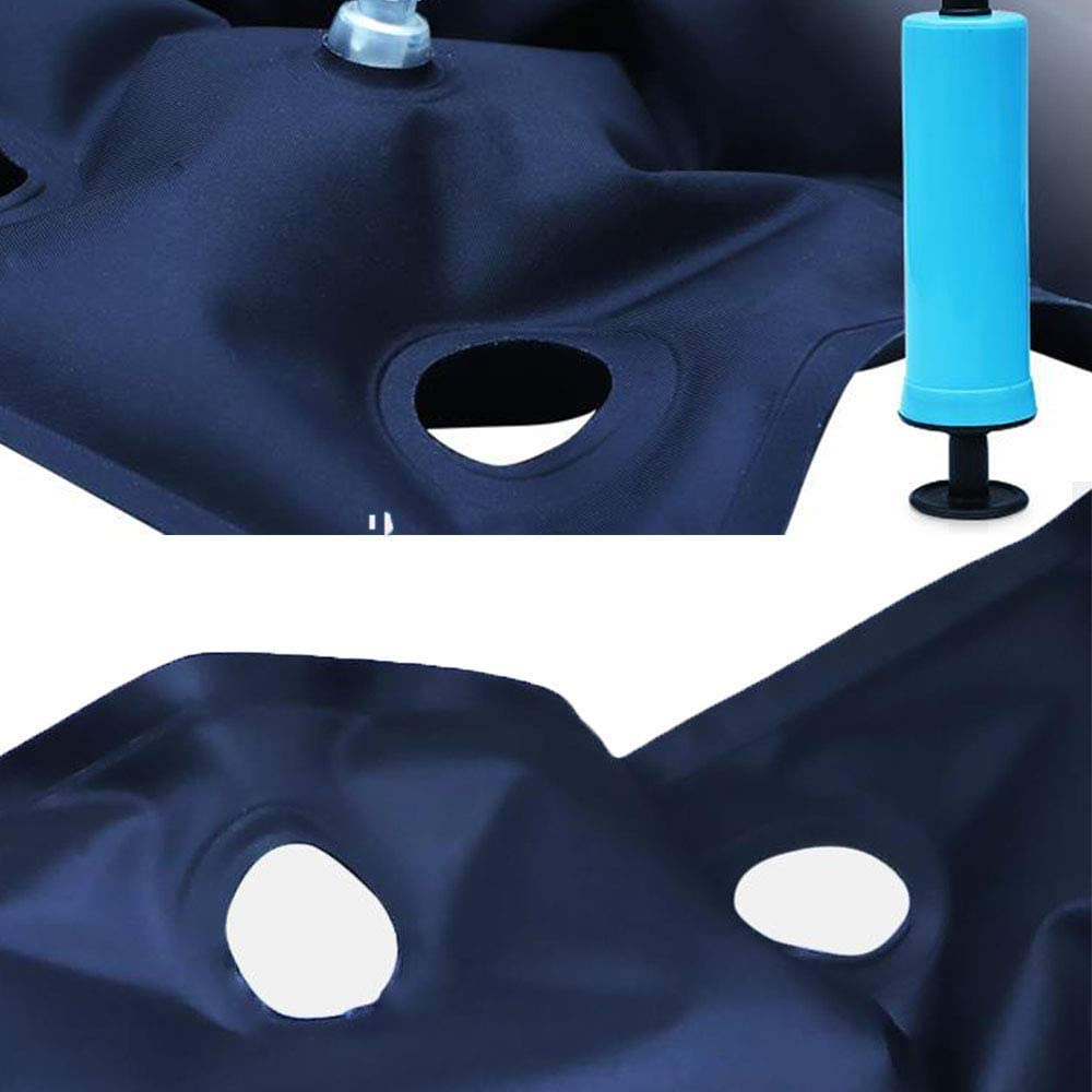 HYYQG Cuscino Gonfiabile per la Macchina Ufficio Tappetino Confortevole Materasso ad Aria antidecubito con Pompa Libera Sollievo dal Dolore a Pressione per Sedia a rotelle Auto Blue