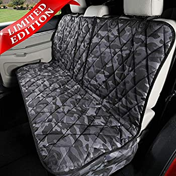 Image of Pet Supplies 4Knines Dog Seat Cover Without Hammock 60/40 Fold Down Seat and Middle Seat Belt Capable - USA Company (Regular, Camo)