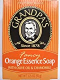 Grandpa's Orange Essence Bar Soap with Olive Oil and Chamomile, 3.25 Ounce