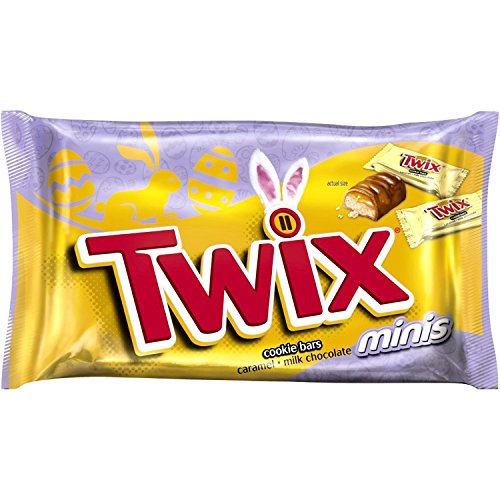 TWIX Easter Caramel Minis Size Chocolate Cookie Bar Candy 11.5-Ounce Bag (Pack of 4)