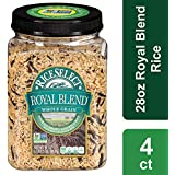 Rice Select Royal Blend, Whole Grain Texmati Brown & Wild Rice with Soft Wheat & Rye Berries, 28 oz Jars (Pack of 4)