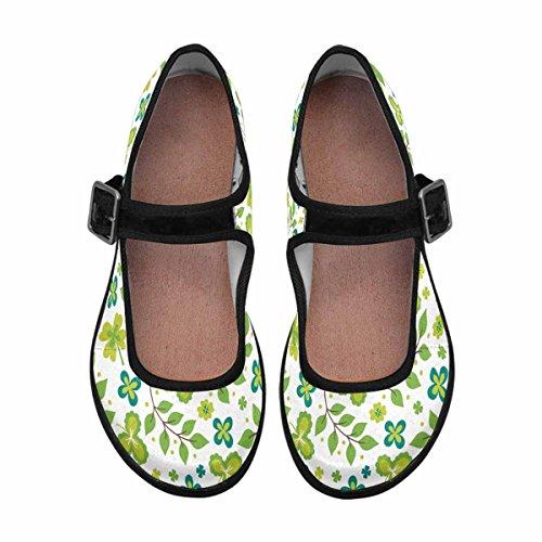 Interestprint Womens Comfort Mary Jane Flats Casual Scarpe Da Passeggio Multi 6