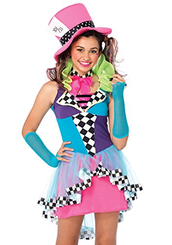 Leg Avenue Women's 3 Piece Mayhem Hatter, Multicolor,