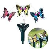 Gold Happy Vibration Solar Power Dancing Flying Fluttering Butterflies Hummingbird Garden Decorative Stake
