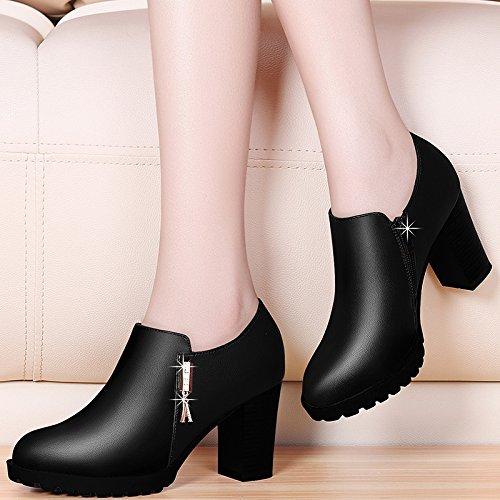 Yukun Schuhe mit hohen Absätzen Herbst Herbst Herbst mit dicken einzelnen Schuhe Damen Schuhe Mode High Heels Damenschuhe mittleren Alters Mutter Schuhe faa98e