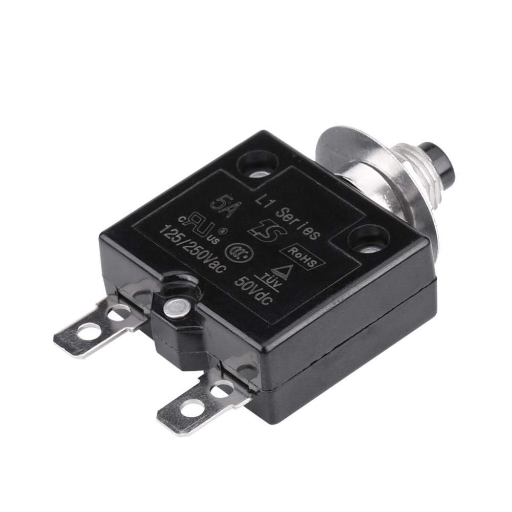 Gorgeri DC 50V AC 125-250V Manual Reset Thermal Switch Circuit Breaker Over Current Overload Protector 18A