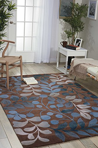 Nourison Contour (CON02) Mocha Rectangle Area Rug, 5-Feet by 7-Feet 6-Inches (5' x 7'6