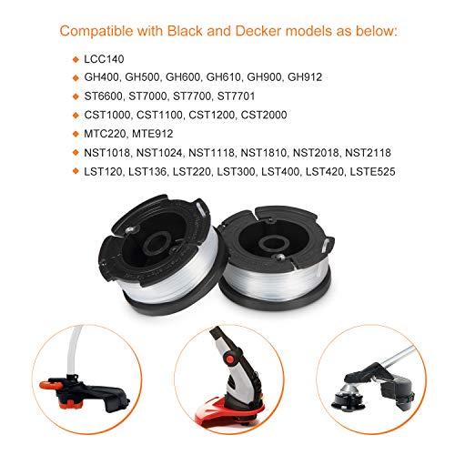 Deyard Trimmer Spool for Black + Decker Autofeed System