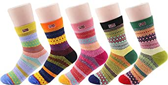 Jiye Women's Sports Cotton Socks(Pack of 5) (6.5-10.5, Color(Pack of 5))