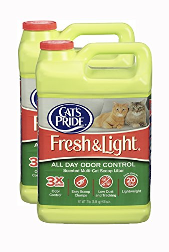 Cat's Pride Fresh and Light All Day Odor Control Scented Multi-Cat Scoop Litter, 2-Pack