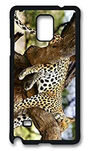 MOKSHOP Adorable jaguar sleeping tree Hard Case Protective Shell Cell Phone Cover For Samsung Galaxy Note 4 - PCB