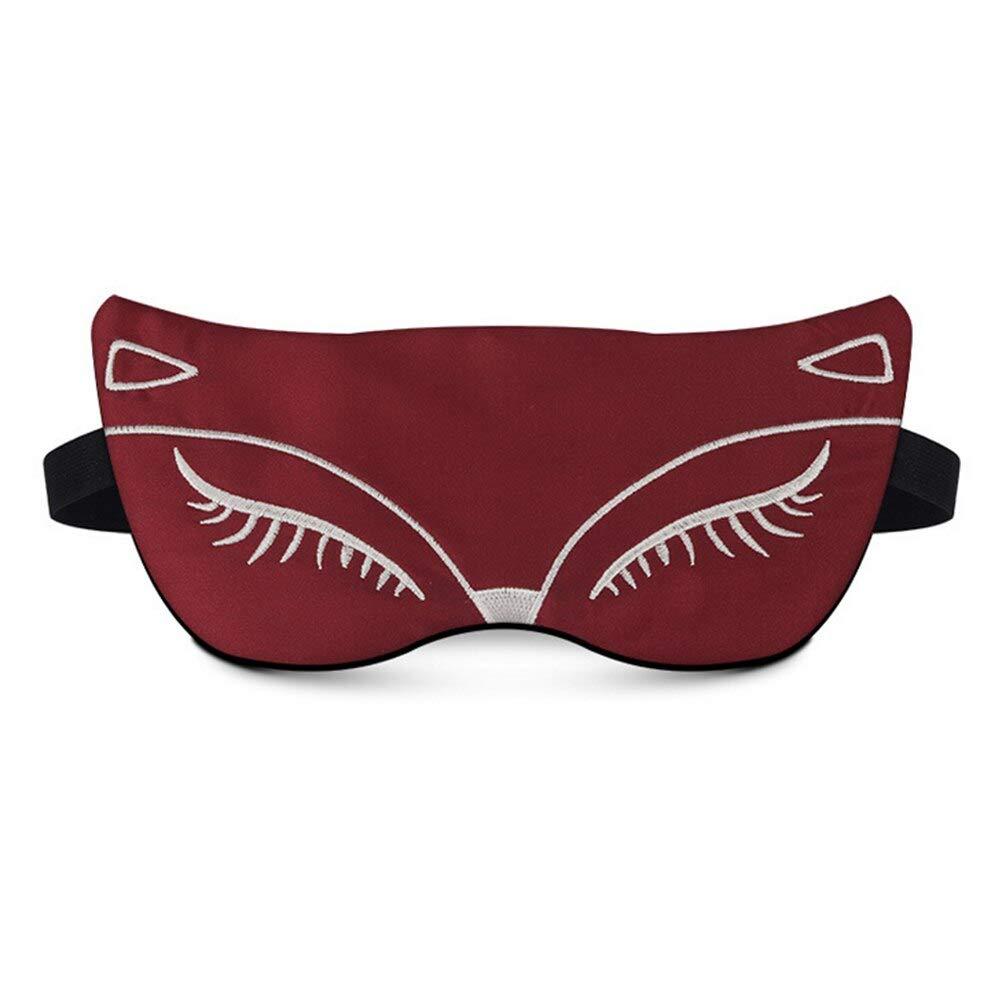 AINIYUE Dúplex Seda Dormir máscara de Ojos, Sexy Fox Sombra ...