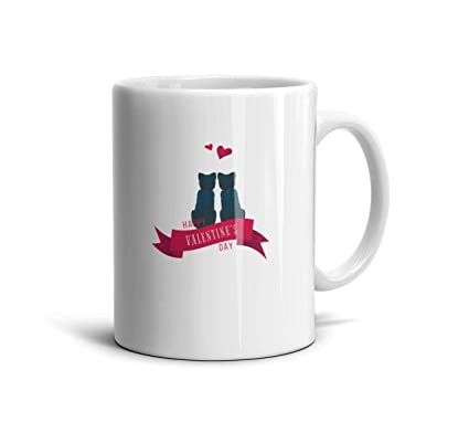 Amazon com: White Mugs,11 OZ Happy Valentines National