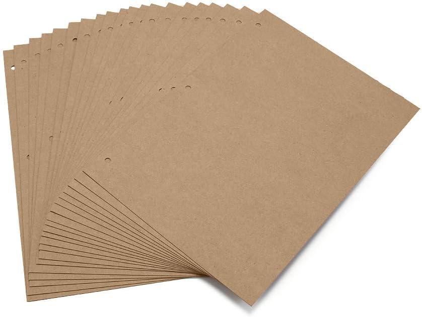 20 pcs Pages de Recharge pour Album Photo Scrapbook Papier Noires 26 x 18 cm Boic Pages Noires de Scrapbook