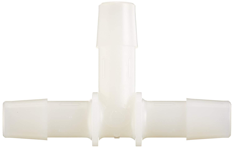 3//8 Hose Barb Eldon James T0-6NN Natural Nylon Equal Barb Tee Pack of 10
