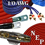 1/0 Gauge Amp Kit, 20% Oversized 1/0 AWG Power & Ground Cable, 200 Amp ANL Fuse, 10 AWG Speaker Wire & More
