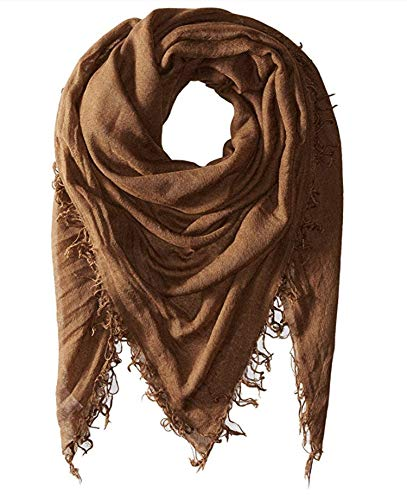 Chan Luu Cashmere and Silk Solid Scarf in Desert Palm Brown ()