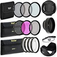 Professional 52MM UV CPL FLD Lens Filters + VIVITAR Neutral Density Set + Close-Up Macro Set, 10 Piece Compact Photography Accessories For Nikon