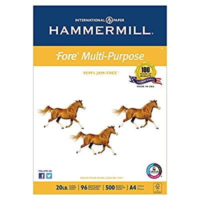 "Hammermill Fore MP, 20lb, A4 Size 210mm x 297mm (8-3/10"" x 11-7/10""), 96 Bright, 500 Sheets/1 Ream (103036)"