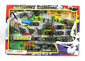 Amazon Com Metro Army Military Combat 43 Piece Mini Toy