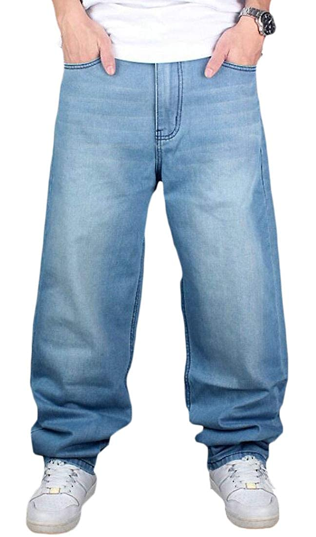 1 Generic Men's Baggy Loose Fit Hip Hop Denim Casual Long Pants Jeans