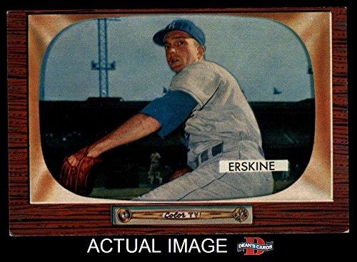1955 Bowman # 170 Carl Erskine Brooklyn Dodgers (Baseball Card) Dean's Cards 5 - EX Dodgers