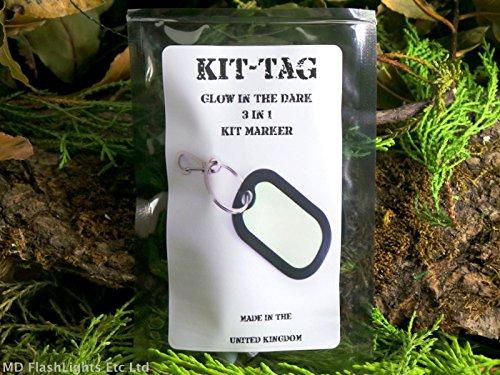 Kit-tag brillent dans le noir 3/en 1/Kit Photoluminescent marqueur Porte-cl/és