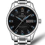 CarnivalFully automatic mechanical Analog Wrist Watch For Men tritium gas luminous simple watch Casual