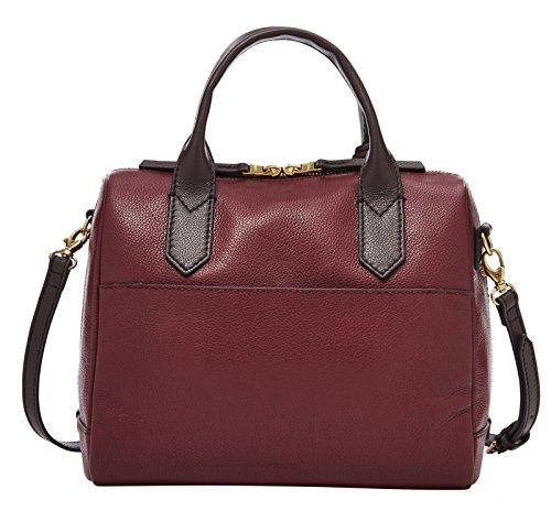 Fossil Damen Tasche Fiona - Satchel - Bolsos maletín Mujer Rojo (Cabernet)