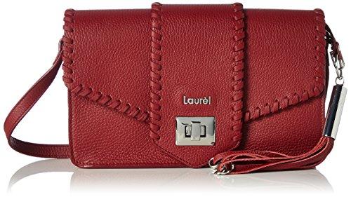 Laurèl Damen 5819 Schultertasche, 6x16x26 cm Rot (Rot)