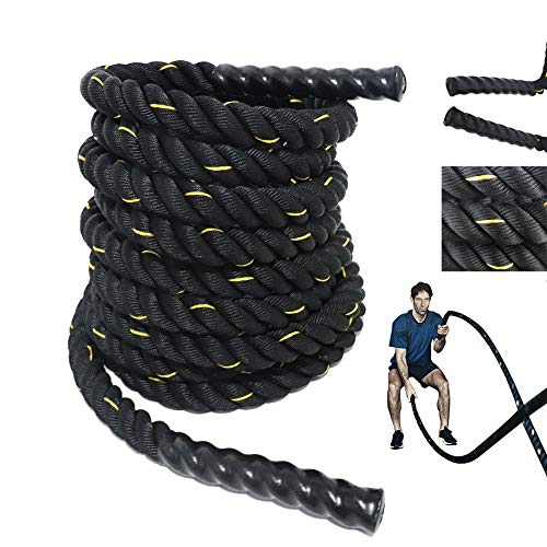 Grande Juguete Battle Rope – 1.5 2 Width 30 40 50ft Length Fitness Rope Workout Training Undulation Rope Exercise