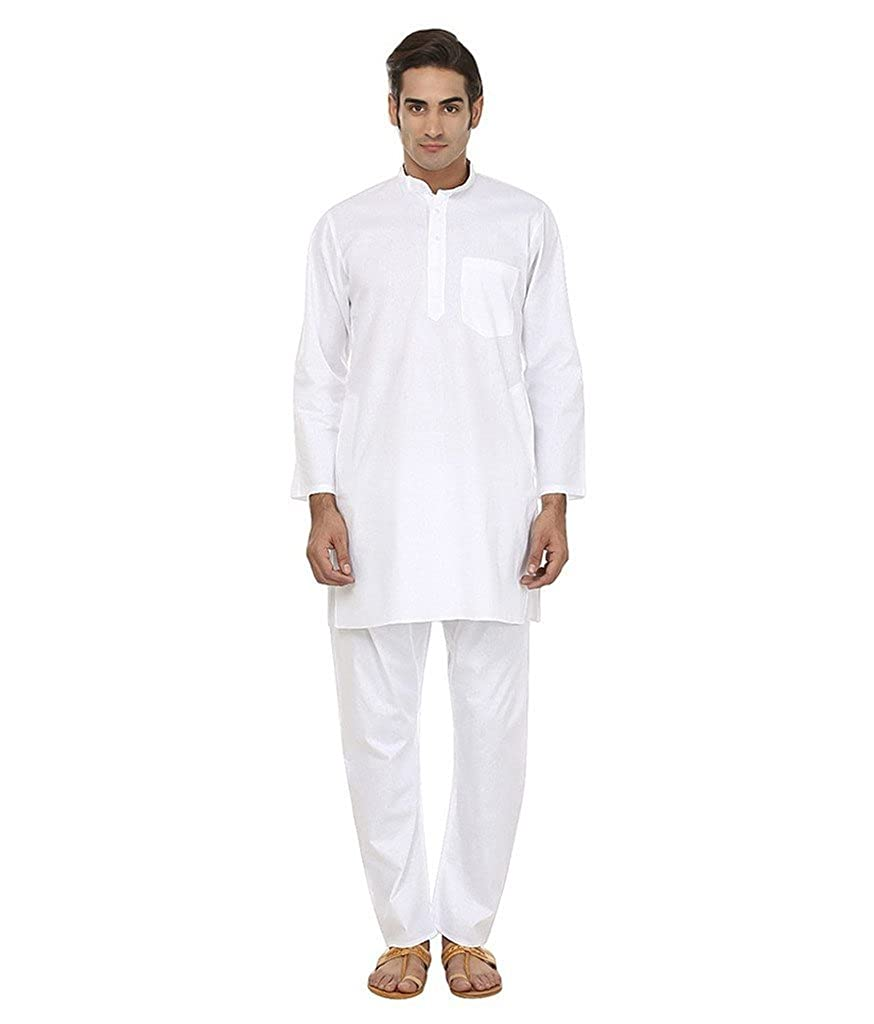 Royal Kurta Men's Summer pure Linen Cotton Kurta Churidar Set GOLDSTAR-WH-38Z1-$P