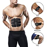 ABS Abdominal Muscle Toner,Training Body Fit Toning Belt Wireless Muscle Exercise for Home/Office Fitness Equipment For Abdomen/Arm/Leg Training Support Men&Women