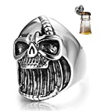 Best  - Jstyle Stainless Steel Skull Rings for Women Mens Review